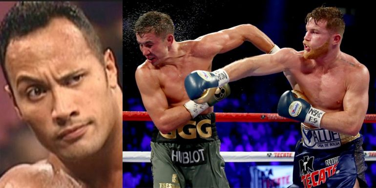 Esto opina The Rock sobre la revancha de Canelo vs. Gennady Golovkin