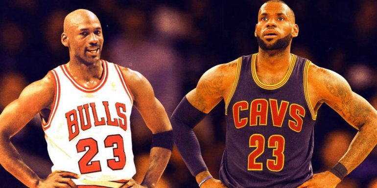 LeBron James y Michael Jordan